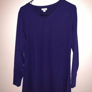 Lularoe Elizabeth shirt -pretty navy blue color